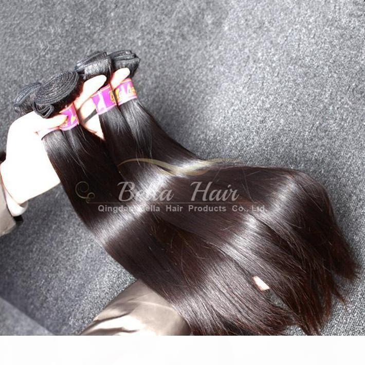 Las mejores extensiones de cabello de Malasia 100% 100% sin procesar Color Natural Color Sedoso Human Human Weaves Envío gratis
