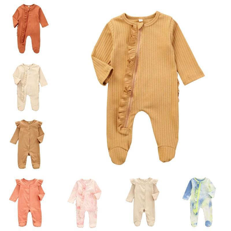 Ins Bambini Abbigliamento Bambini Zipper Zipper Tute Pagliaccetti Rompere Robules Footice Infantile Inverno Autunno Manica Lunga Selvaggia Abiti neonati Bodysuits 126 K2