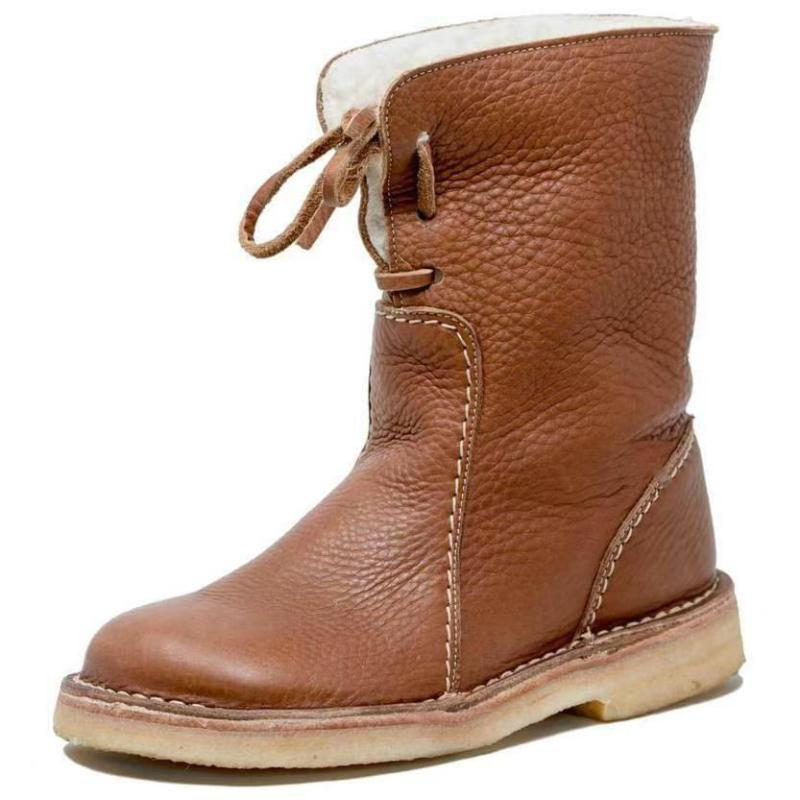 Kadınlar Kış Kürk Sıcak Kar Bot Bayanlar Sıcak yün patik Bilek Önyükleme Rahat Ayakkabı artı boyutu 35-43 Casual Kadınlar Mid Bot