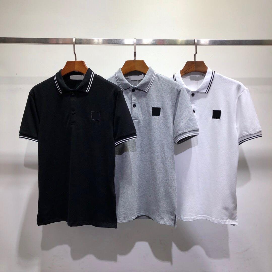 2020 мужская рубашка поло мода классическая футболка с коротким рукавом комфорт хлопчатобумажный лето материалы верхнего уровня грудная буква вышивка летом футболки