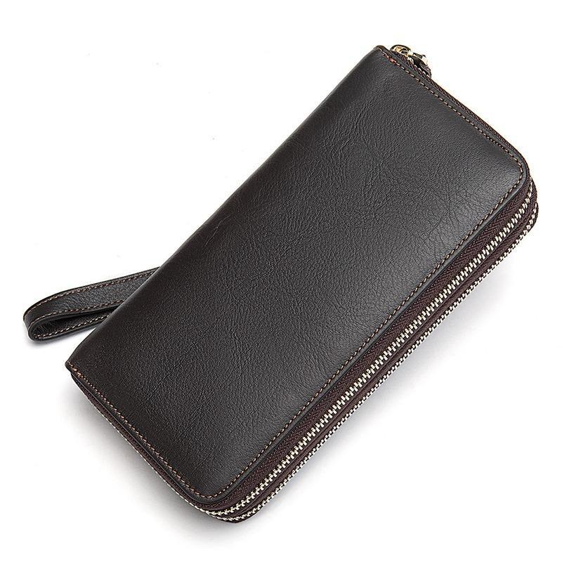 Telefoon Koppelingen Mannelijke Man Handtas Foto Clutch Kaart Echt Voor Portemonnee Mannen Business Lederen Tassen Mode Ijwcv