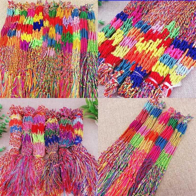 Weben Farbgewinde Armband Frauen Männer Armbänder Fünf bunte Schnur Geflochtene Schmuckkette Kleines Geschenk 0 17hs G2B