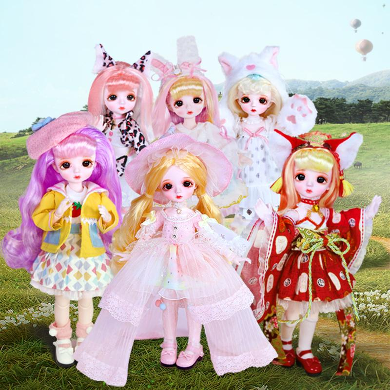 DBS Dream Doll 1/6 BJD nombre por Little Angel Mechanical Body Body con maquillaje, incluyendo cuero cabelludo, ojos, ropa niñas SD, 201203