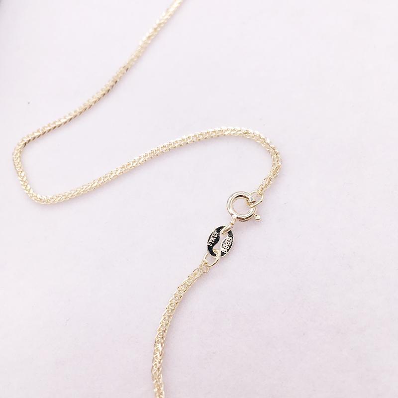 35-90 cm 1 mm 925 plata de ley de oro collar de cadena de chopin para mujer niñas bebé Italia joyería kolye collier Collier Ketting1