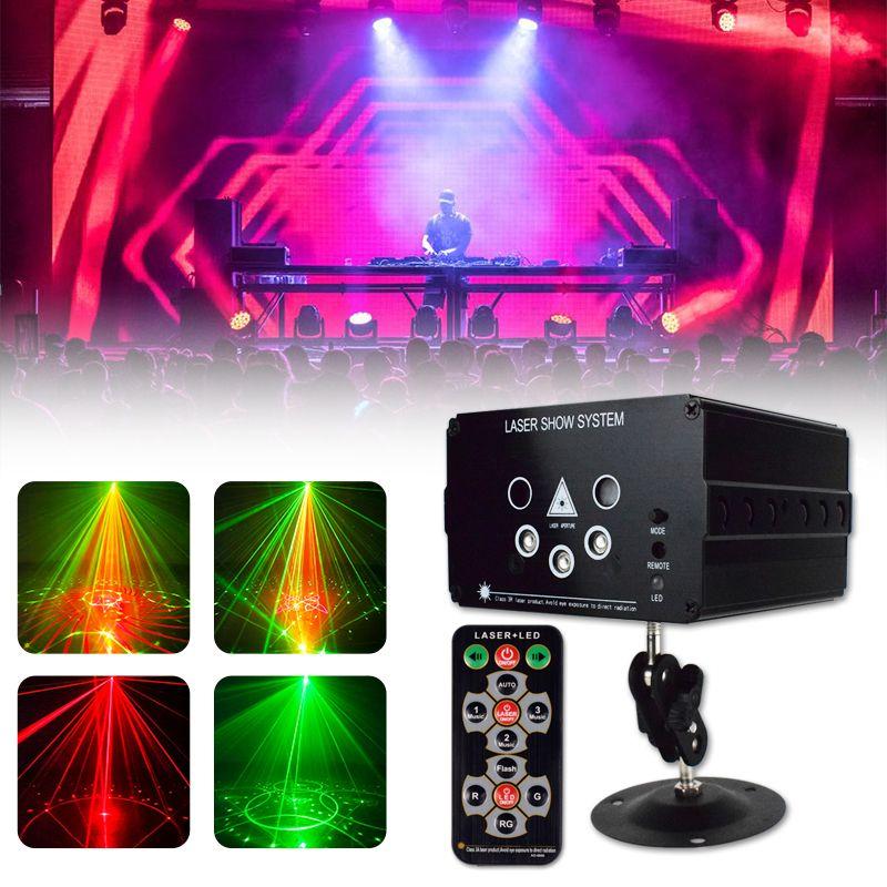 Disco Light 48 Motif LED Projecteur Laser Sound Noël Partie de Noël DJ Light Voix Disco Xmas pour mariage