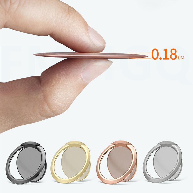 Estremamente supporto del metallo del telefono mobile Socket sottile lusso universale Telefono magnetico auto basamento della staffa Accessori Anello di barretta