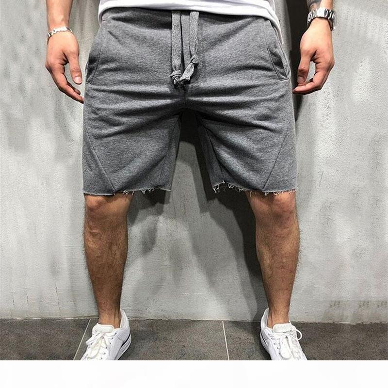 Marca hombres pantalones cortos de algodón para hombres pantalones cortos sueltos de los hombres fitness culturismo jogger para hombre marca de pantalones de felicitación duradera entrenamiento de fitness corto