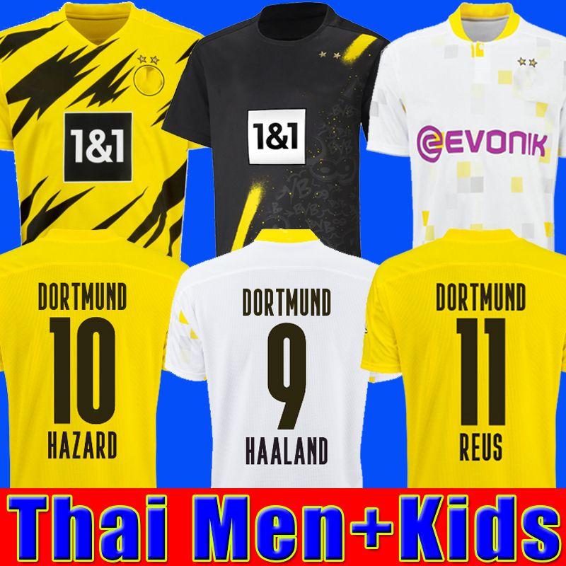 HAALAND REUS Borussia 20 21 dortmund 축구 유니폼 2020 축구 셔츠 BELLINGHAM SANCHO REUS HUMMELS BRANDT 남성 키즈 키트 maillot DE FOOT