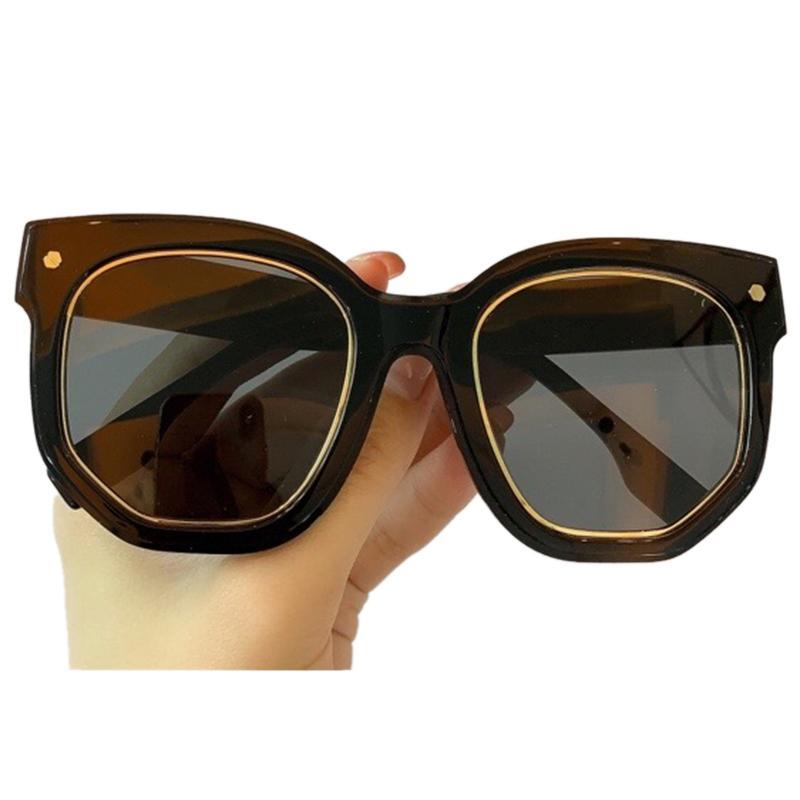 Moda Marca Mulheres Óculos De Sol Homens Oversized Luxo Squeta Sul Óculos Femininos Oculos UV400 Grwgc