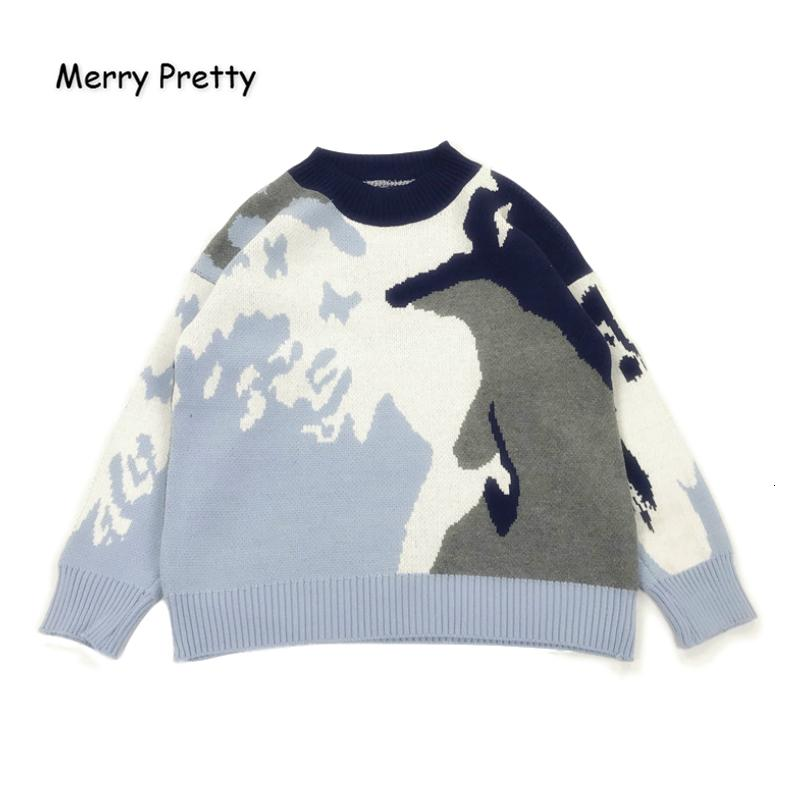 Xuanhao Pull tricoté de broderie et pull-overs 2019 Hiver chaud épais filles Knit Jumpe Pull jacquard