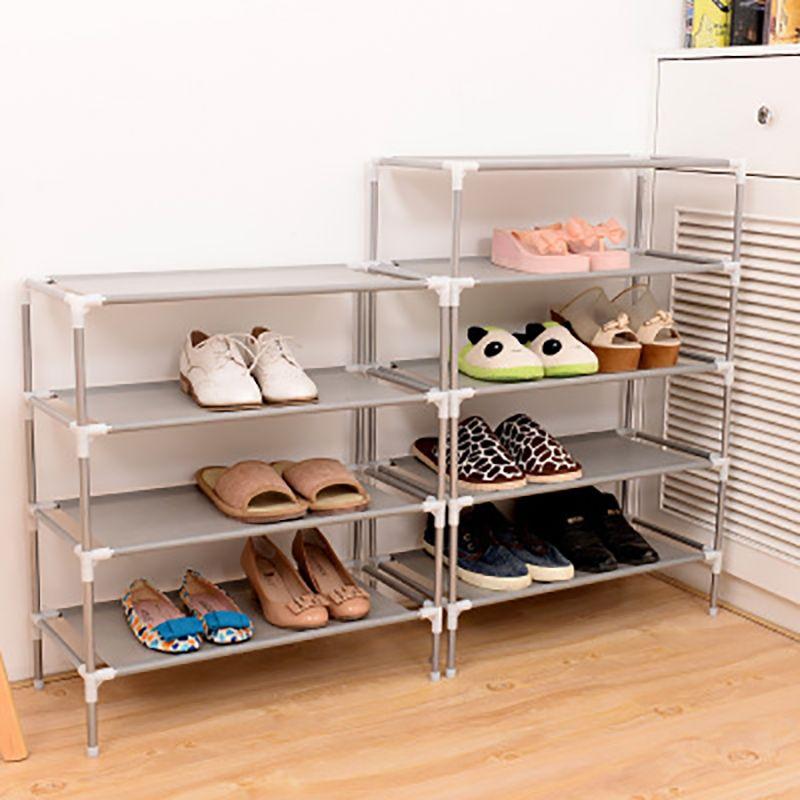 Chaussure nouvelle chaussure Organisateur rack Assemblé couches multiples Cordonnier Support pour chaussures Tablette pour armoire chaussures de stockage non-tissé