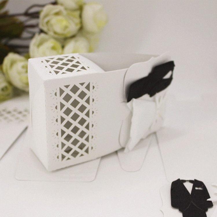 Chocolate Estilo Europeu Gift Box Bonbonniere para o chuveiro nupcial da festa de aniversário do presente de casamento Decoração LB7g #