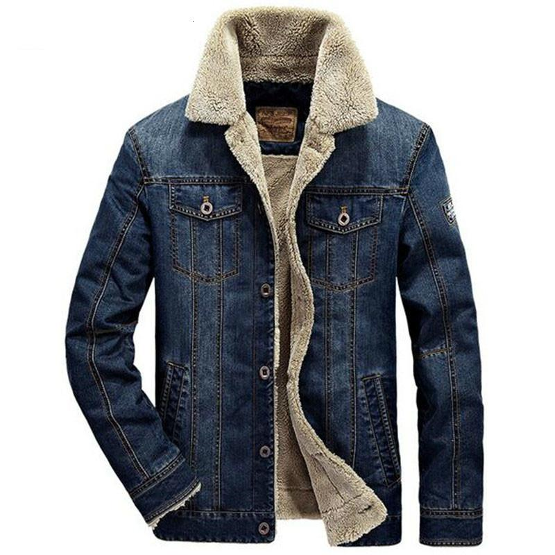 2021 New Tang Autumn Winter Jacket and Men's Fashion Coats Jeans Grosso Outwear Hot Cowboy Male Clothes E957