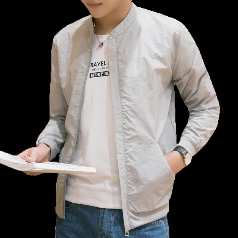 Chaqueta verano básico chaquetas ligeras de Protección Solar para los hombres de secado rápido resistente al agua a prueba de viento Escudo de la piel contra los rayos UV de la chaqueta