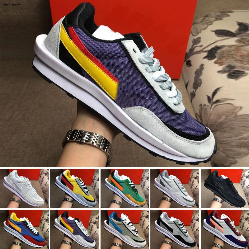 neue Ankünfte Ldwaffle Run Schuhe Herren Damen Black Nylon Pine Grüne dreifache Weiß Grau Schwarz Pigeon LDV Waffle sports Turnschuhe