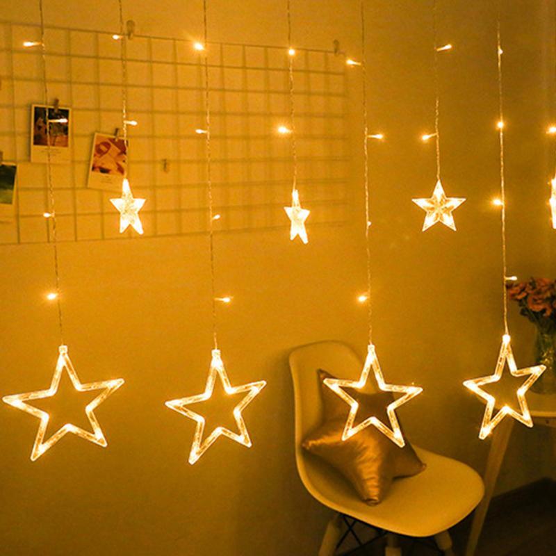 Hada 2,5M de Navidad 138 luces LED Luna cadena luz Garland hogar del LED para la boda de la estrella / home / partido / cumpleaños / decoración guirnalda