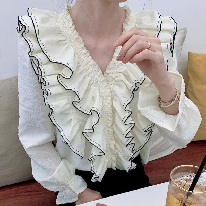 Японский стиль корейской моды свитер простой тонкий элегантный зимний осенние лучшие продавцы rush v-образным вырезом с длинным рукавом