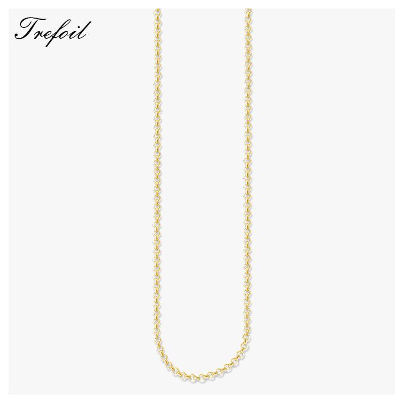 Cadena Collar redondo de color oro Belcher, 2020 nuevo de la manera joyería clásica accesorios básicos 925 regalo para las mujeres