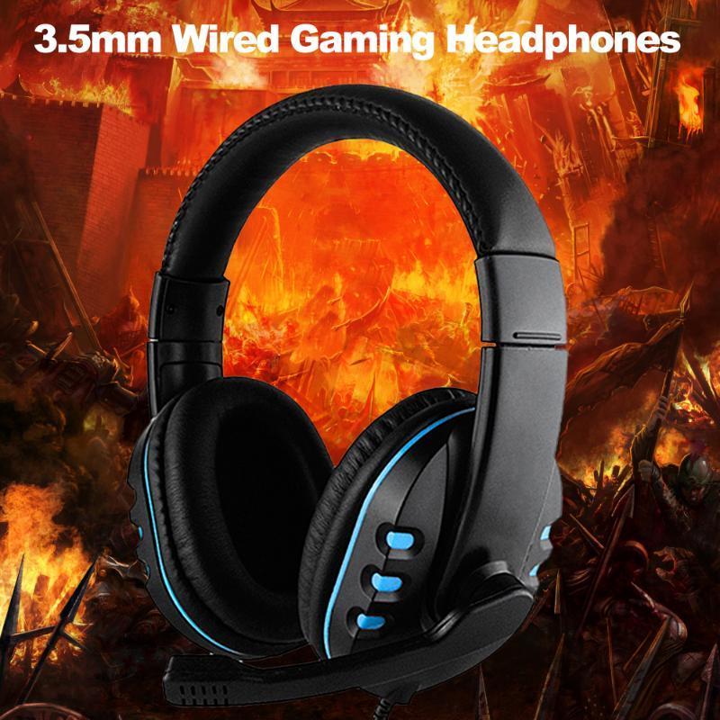 3,5 mm Wired Gaming Casque Ear Over Jeu casque Noise Cancelling écouteurs avec microphone pour PC portable intelligent jeu de téléphone