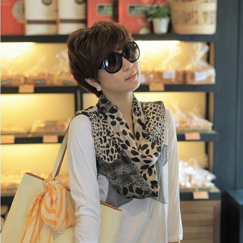 Leopard Imprimir Cachecol Moda Mulheres Quadrado Cabeça Cachecol Envoltório Scarves Senhoras Impresso Kerchief Neck Linda Lenço Shawl