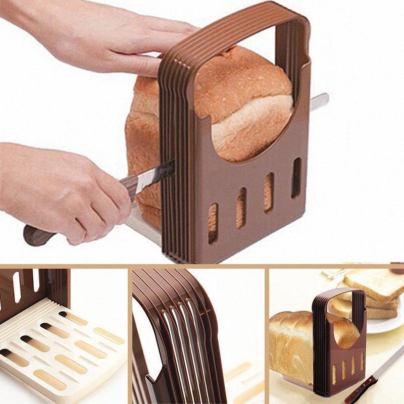 Pain pratique Cutter Pain Toast Slicer coupe Guide Slicing outil de cuisine pGIl #
