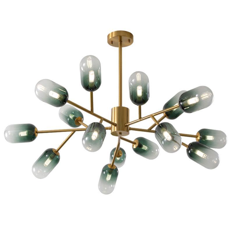 İskandinav avize oturma odası lamba yaratıcı kişilik yemek odası yatak odası avize postmodern minimalist moleküler lambaları G9