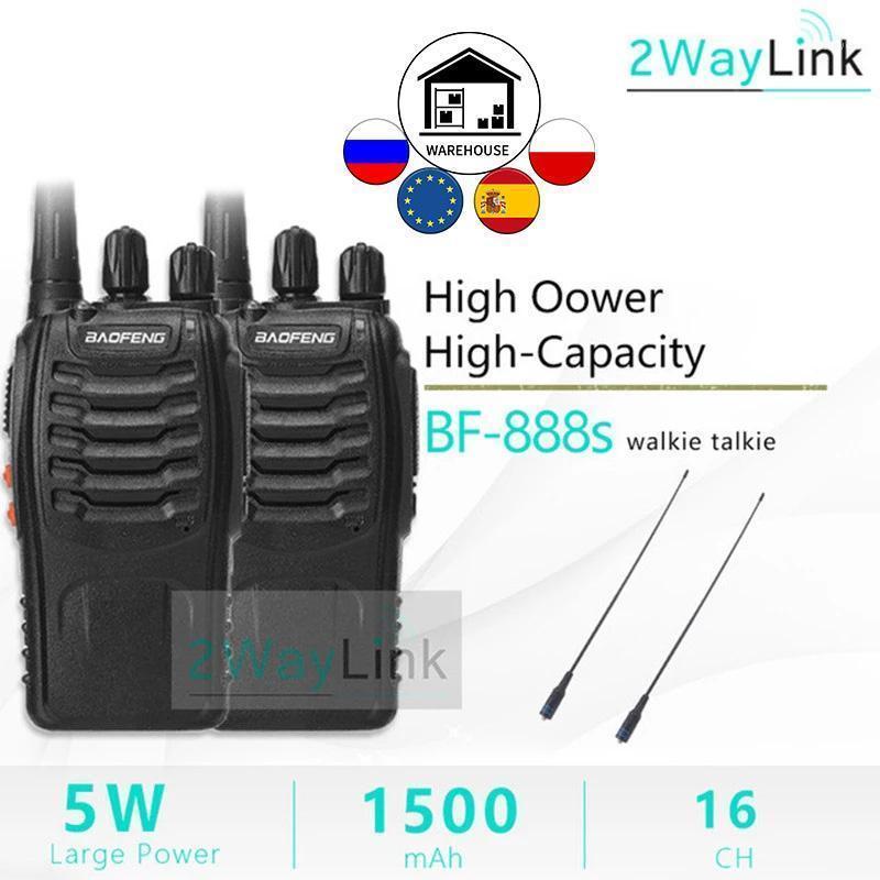 1pc 2 unids BAOFENG BF-888S Radio de dos vías Baofeng 888 Walkie Talkie 888S UHF 400-470MHZ 16Channels H777 Transceptor Radio Set1