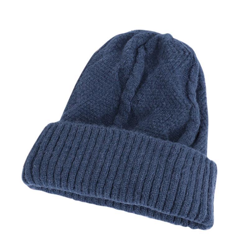 Douce et chaude Bonnet tricoté Automne Hiver solide Laine unisexe Blends Hommes Femmes Calotte Chapeaux de ski Casquettes gorros mujer Invierno z1202
