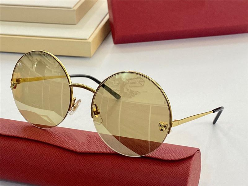 Las últimas gafas de sol de diseño de moda de venta caliente 0022 retro lente redondo Maldito marco de marco, protectora UV400 ultra delgada