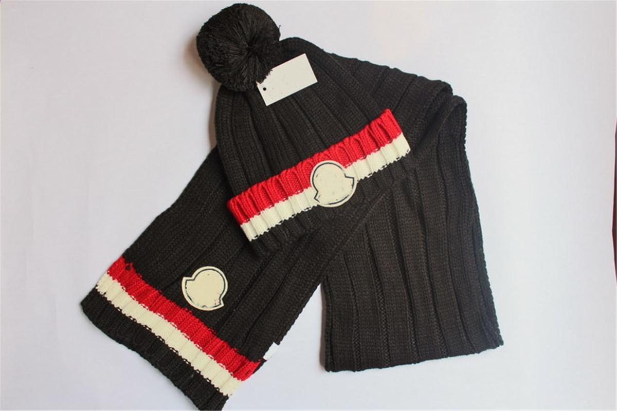 New Fashion Designer Sciarpa Inverno Berretti Inverno Donne Donne Donne Brand Sciarpa Maglia Cappelli Sciarpe Set Vendita calda