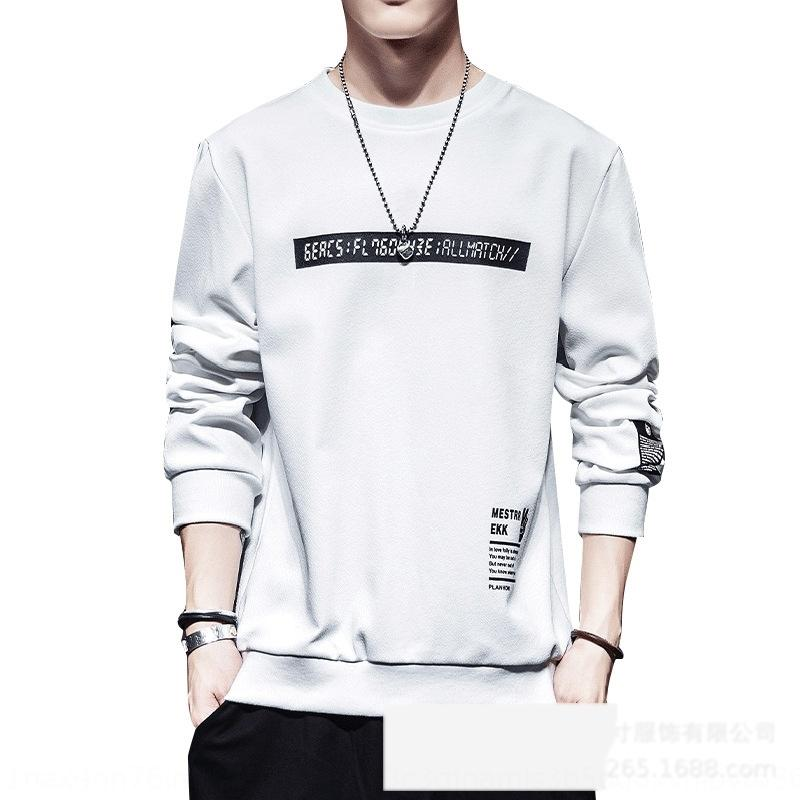 Ealfx sweater new spring and autumn Korean men's long sleeve t-shirt men's 2020 version T-shirt clothingsweater clothingtrendall kinds of clo