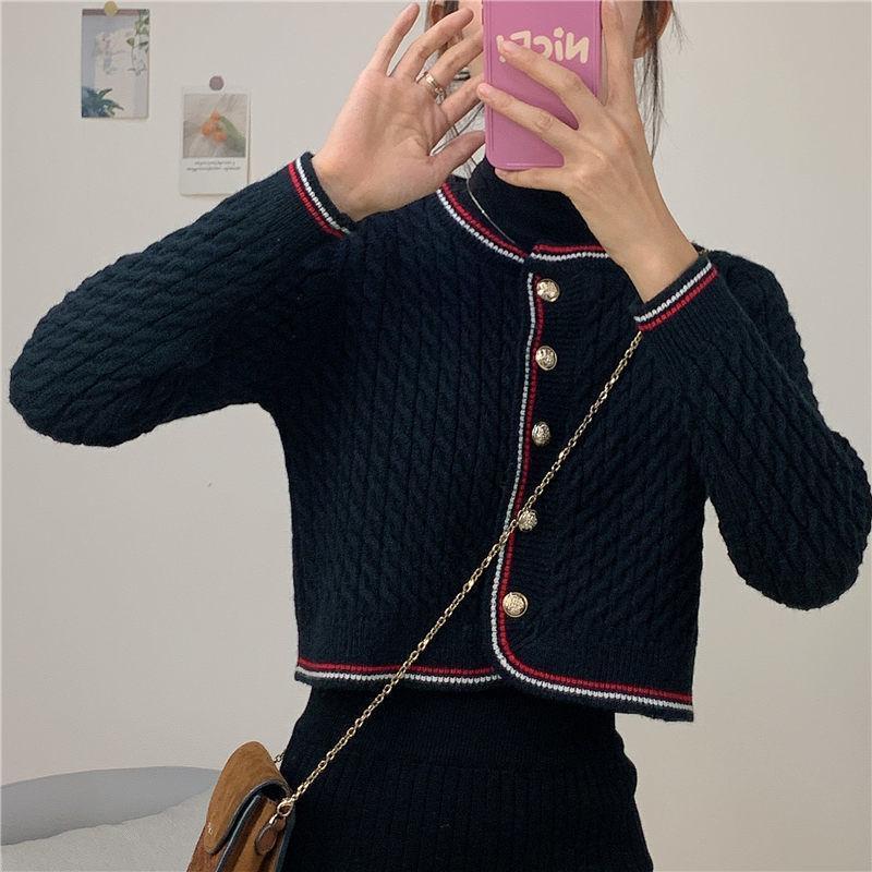 2020 новых трикотажный кардиган женского короткий жакета женского свитер пальто