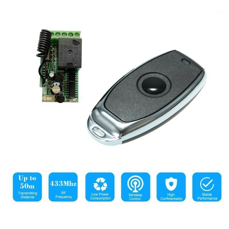 433MHz DC 12V Universal RF Fernbedienungsschalter Relay Empfängermodul Mini 1CH Wireless Control Switch Remote Controls1