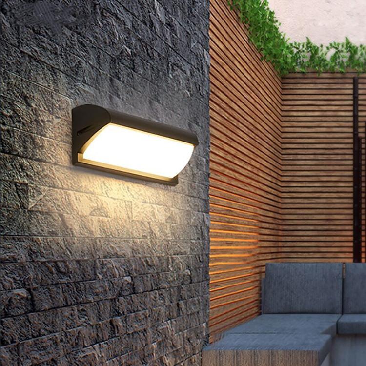 수분 방지 벽 램프 현대 미니멀 옥외 외관 조명 정원 계단 통로 발코니 방수 따뜻한 빛 B742