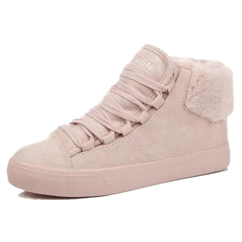 Голеностопный Snow Boots Женщина Водонепроницаемая Зимние меховой мода Плюшевой Теплый Продеть 2020 Моду обуви Короткого Flats Женского Повседневный Botas Mujer