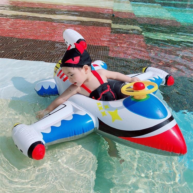 I nuovi bambini ispessito gonfiabile aeroplano Forma Sedile anello di nuoto del Monte