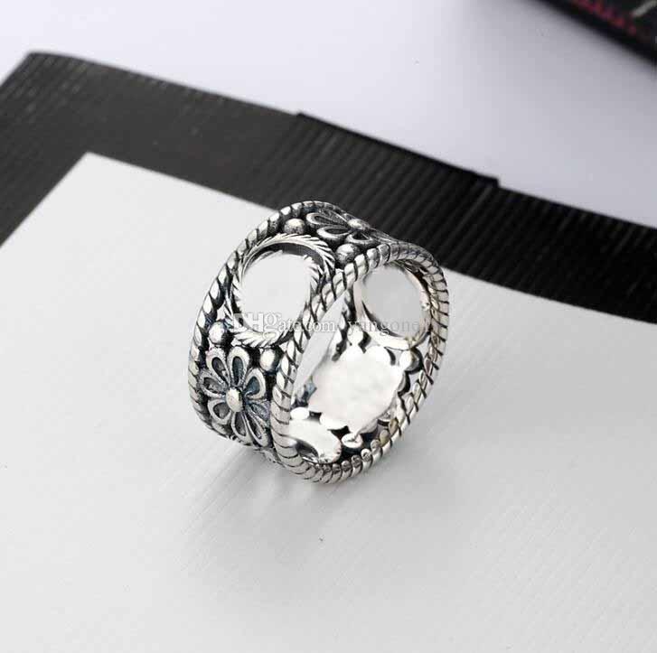 Очарование мода ювелирные изделия кольцо полые буквы кольцо ретро простой хип-хоп панк кольцо вспомогательный подарок