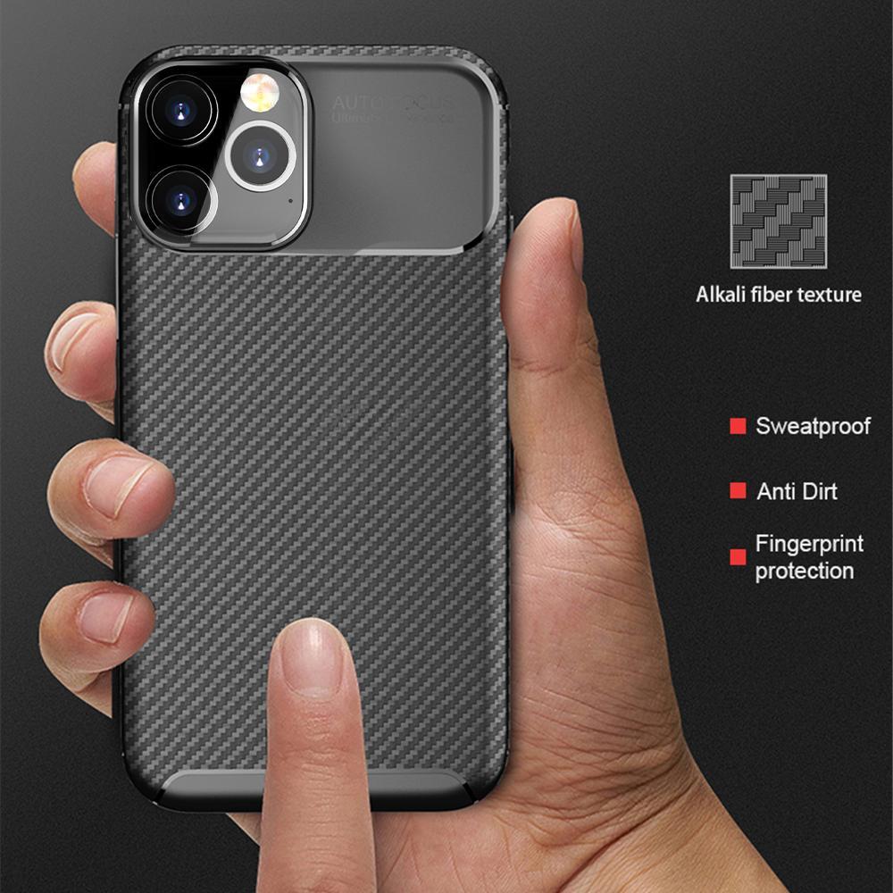من ألياف الكربون حالة الغطاء عن اي فون 12 البسيطة 6 7 8 6S بالاضافة الى تغطية ضد الصدمات القضية لمدة 12 برو ماكس حماية كاملة شل الغلاف الخلفي