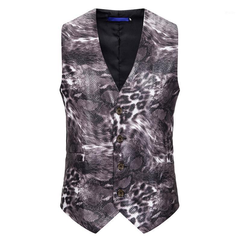 Giacca senza maniche con scollo a V con scollo a V con scollo a V vestito da uomo Vestito Slim Fit Tuxedo Gilet per PROM PROM PROM Banchetto US Si Size1