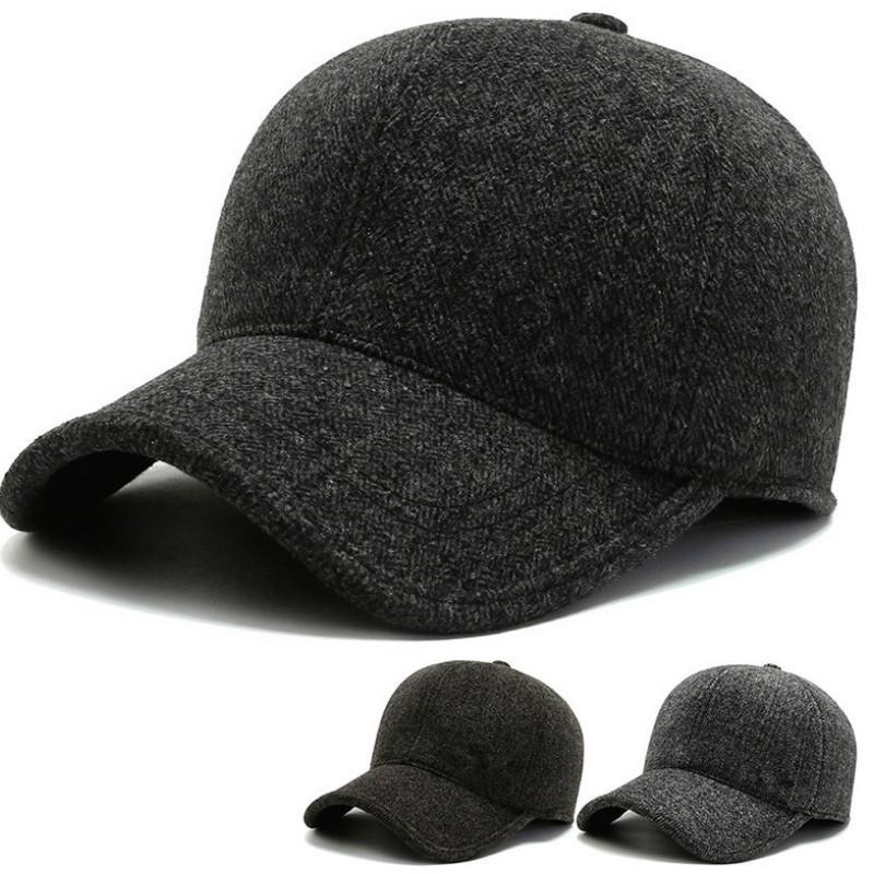 Hot Winter New algodón costura de béisbol Hombre otoño e invierno gorra cálida protección contra oídos a prueba de frío JXW726