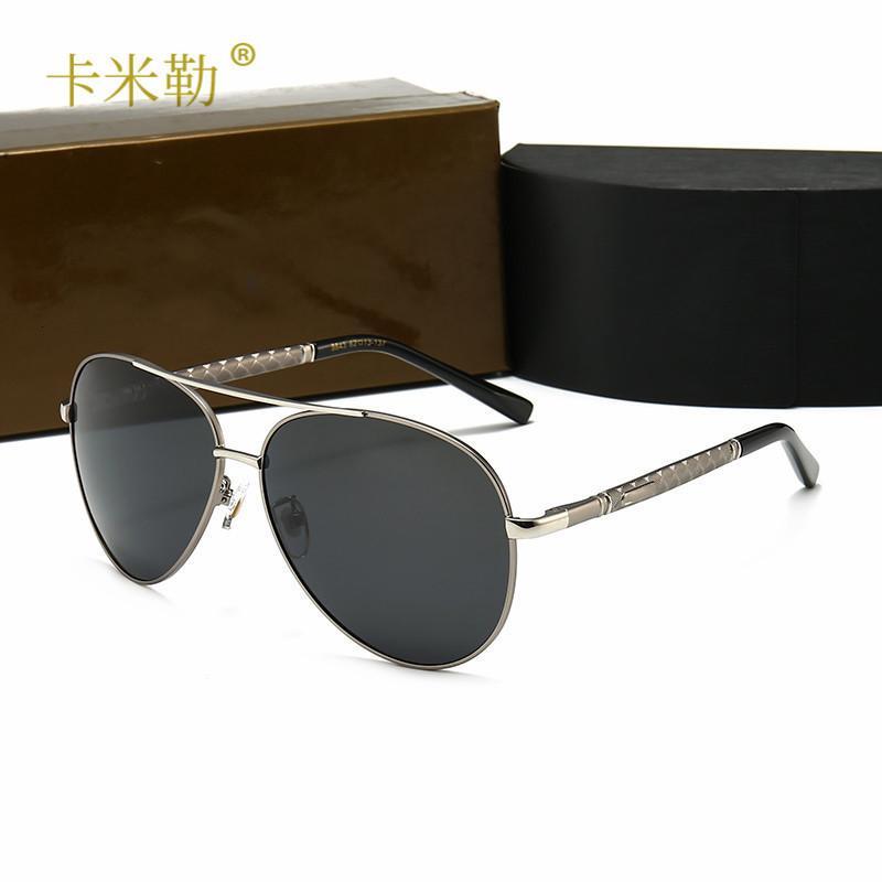 2020 Новые мужские поляризационные солнцезащитные очки с синим плеем внутри модных больших кадров Toad Солнцезащитные очки туристические очки 8843 KML-Designer