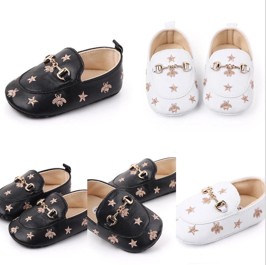 Baby Boy Shoes для 0-18 м пчелы звезды новорожденные детские повседневные туфли малышей детская обувь хлопок мягкая подошва Baby Бесплатная доставка
