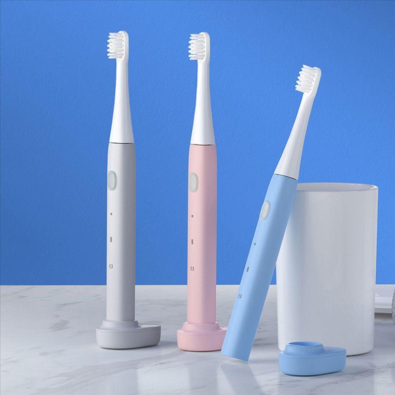 EIU1A Новые ультразвуковые вибрации по электрической зубной щетке Электрический зубной щебневой наборной зубной щенкоуниверсающей зубной щетки для взрослых и чил