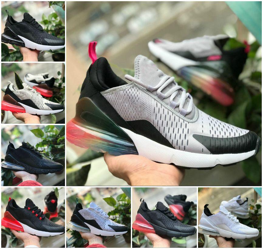 Novo 270 Bred Platinum Tint Mens Mulheres Correndo Tênis Triplo Black White University 270 Tigre Olive Azul Vazio Air Trainers Designers Sneakers