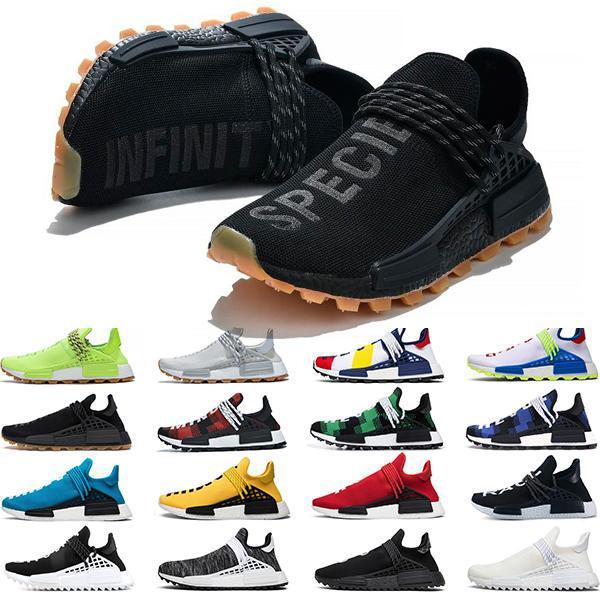 نيو الإنسان سباق أحذية هو PW NMD الإلهام بلاك باك فاريل الشمسية حزمة أورانج سبور منصة التخميد أحذية فاريل وليامز X بي بي سي