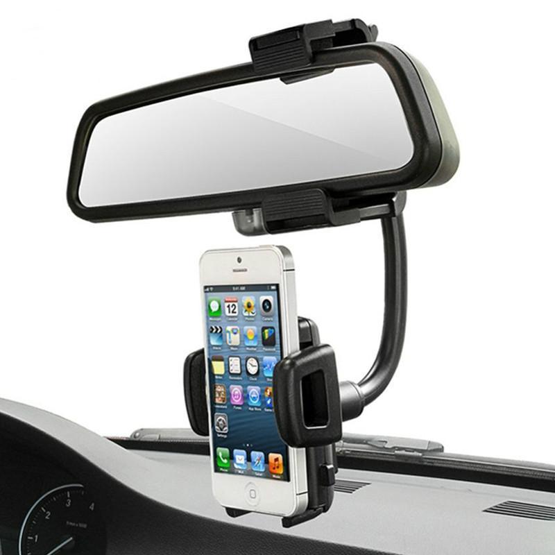 Araba Dikiz Aynası Dağı Telefon Tutucu Evrensel Araba Cep Telefonu GPS Akıllı Telefon Aksesuarları için Standları
