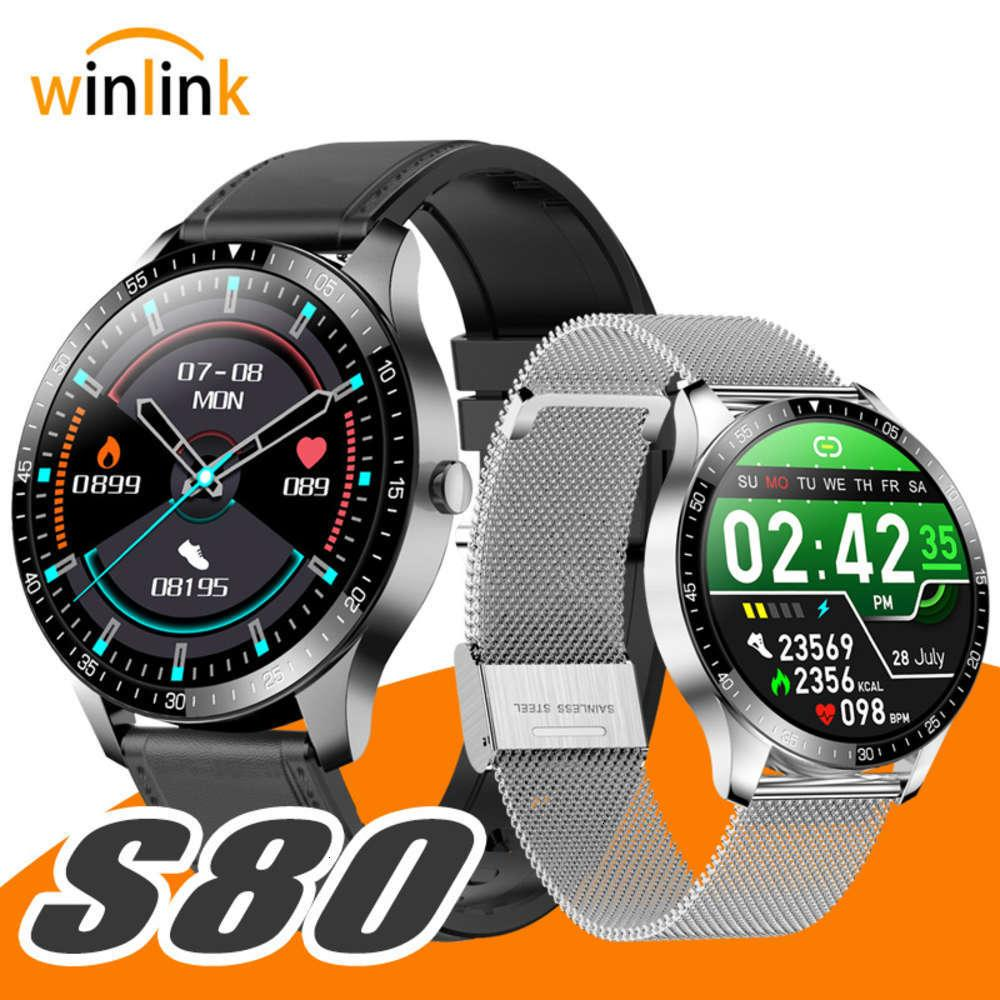 Micro S80 smart watch ultra thin sports busins heart rate blood prsure sleep monitoring call reminder screen touchbgt