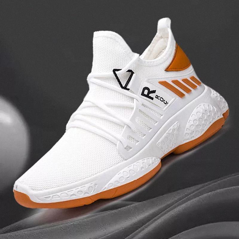 Moda Nummer Erkek Ayakkabı Erkek Ayakkabı Nefes Erkekler Sneakers Siyah Beyaz Rahat Ayakkabılar # LN8L