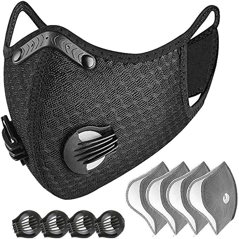 Disponibles Mascarilla de ciclismo de lujo Careta de carbón activado con filtro PM2.5 Anti-Contaminación Deporte Ejecución Protección de entrenamiento Mascarilla