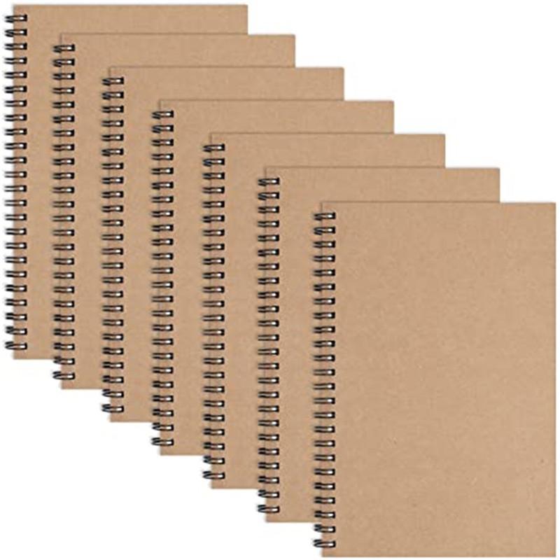 Cadernos de caderno de notebook em espiral Notebooks capa macia Notebook 50 folhas / 100 páginas Papel sem luz para escola de estudantes de escritório